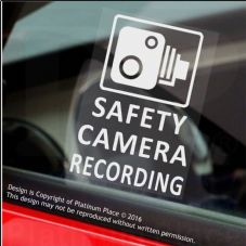 4 x SAFETY CAMERA Recording-60x87mm WINDOW Stickers-Vehicle Security Warning Dash Cam Signs-CCTV,Car,Van,Truck,Taxi,Mini Cab,Bus,Coach